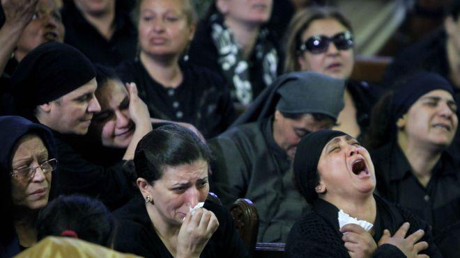 mourning coptic christians