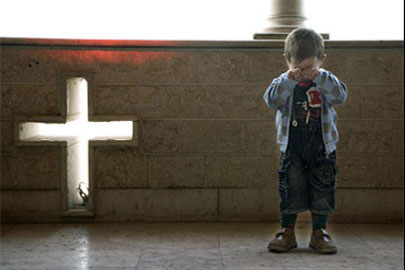 Christian boy in Iraq