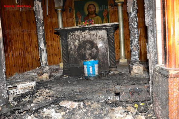Egypt-Church-Burned-Al-Masry