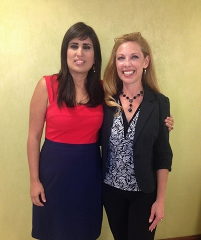 Naghmeh Abedini visits with Lois Kanalos of  Voice of the Persecuted.