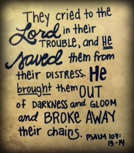 psalm 107-13-14