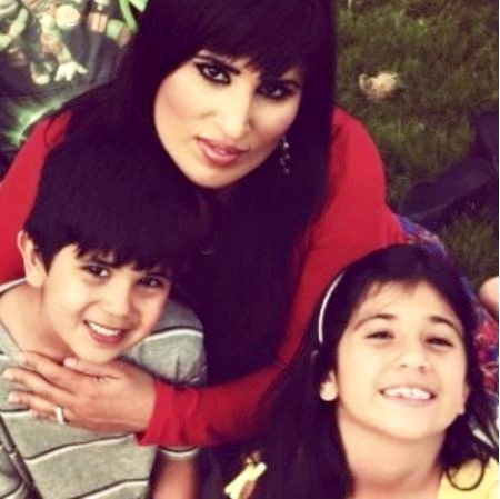 Pastor Saeed's wife, Naghmeh Abeidni with their children