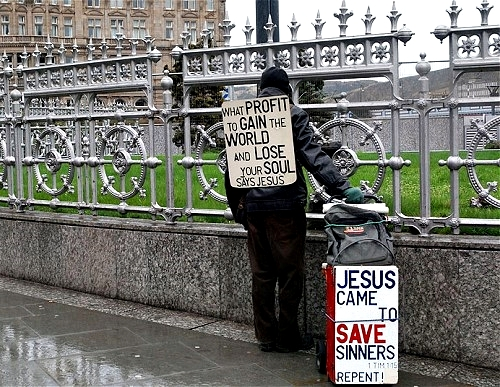 """Christian preachers could effectively be driven off the streets if deemed """"annoying"""", under draconian new powers Photo: ALAMY"""