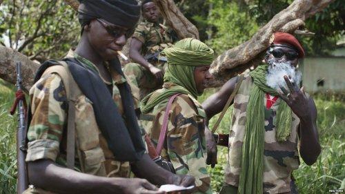 Seleka fighters in CAR