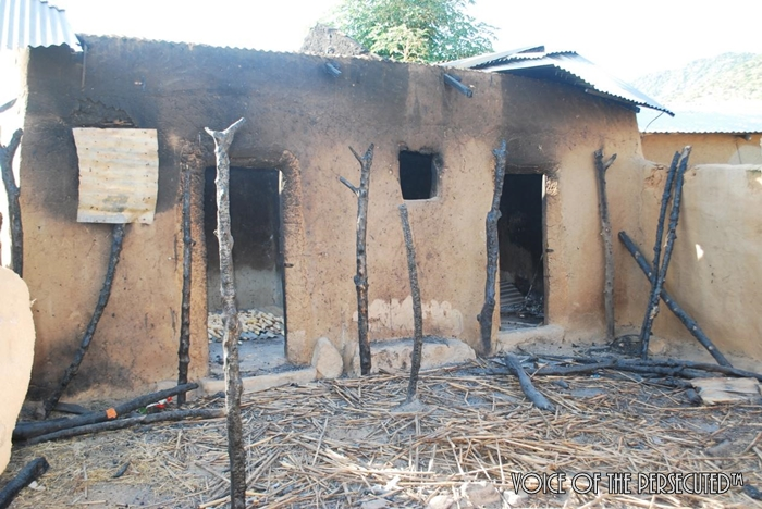 A Christian home that was destroyed
