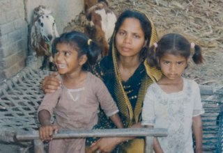Mother of five, Asia Bibi with two of her children
