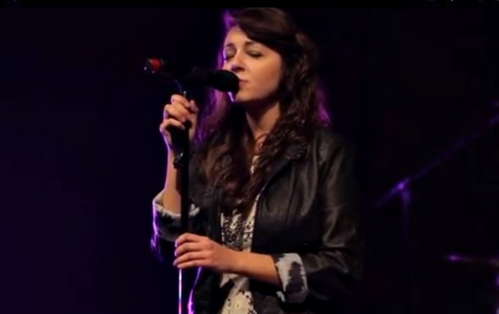 Lauren Sweeney sings at Liberty University