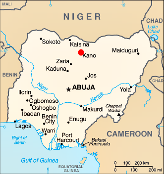 Nigeria-Kano-Map