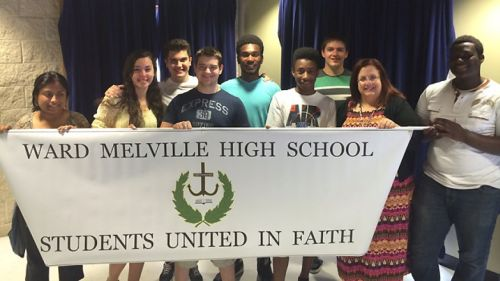 The Christian Club at Ward-Melville High School. (Courtesy John Raney)