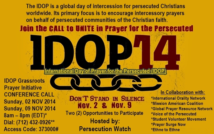International Day of Prayer for the Persecuted-IDOP