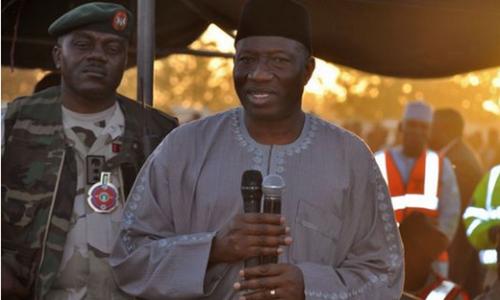 Goodluck Jonathon, incumbent President of Nigeria