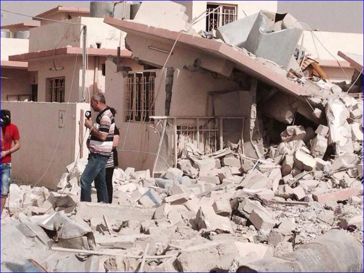 An Assyrian house in Telsqof, Iraq destroyed by ISIS.