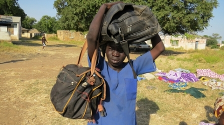 About 1.5 million people displaced by the Boko Haram insurgency in the North may not be able cast their vote. Here, a child arrives at a camp all by himself. November 2014 World Watch Monitor