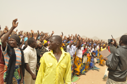 Nigerian Refugees in Maroua camp during the delegation visit of the Catholic Bishops Conference of Nigeria