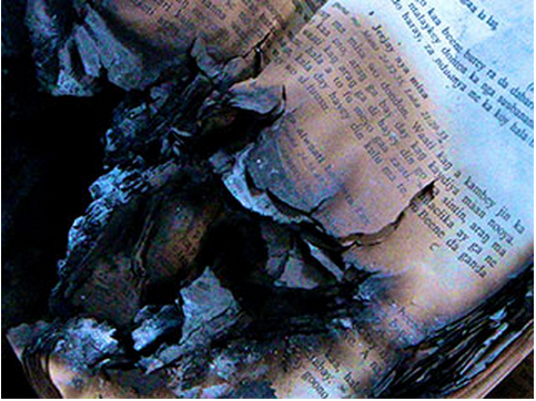 Bibles were burned during the violent riot attacks on churches in Niger. Christian homes and schools were also attacked