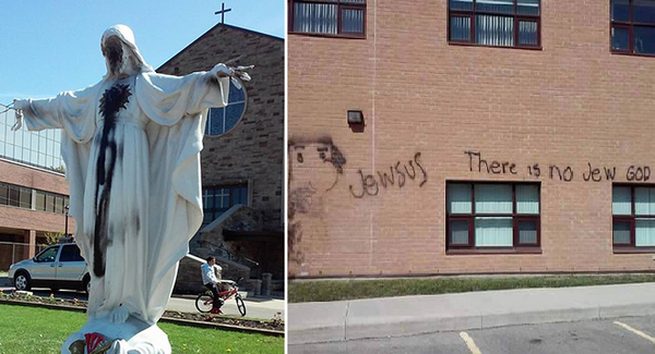 The St. Catherine of Siena Church and its neighboring elementary school in Mississauga, Ontario were vandalized this year by Iqbal Hessan, a 22-year-old Muslim man.