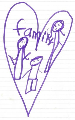 Rebekka's recent drawings of her family are missing her daddy. Please keep her in prayer.