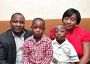 Jimmy Pam and family. (Minoritynigeria.org)