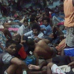 Pakistani Christian asylum seekers held in detention center like cattle.