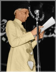 Mohammed Al Jinnah, Pakistan's first Governor and founder.