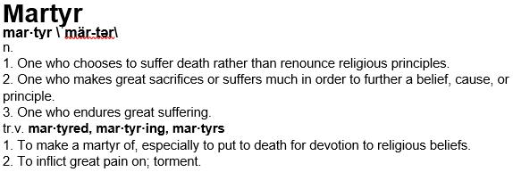 Martyr-definition