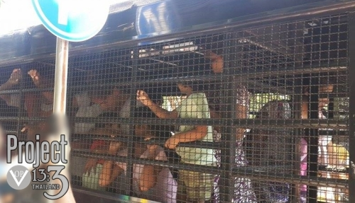 Pakistani Christian asylum seekers brought to court caged in police van