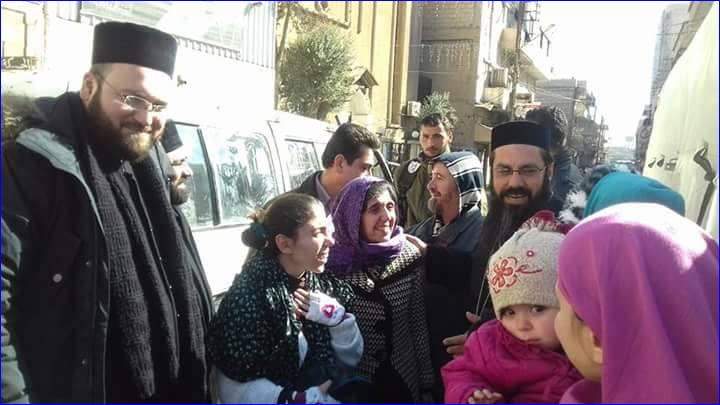 The Assyrian hostages from Qaryatain who were released today by ISIS. Photo:AINA
