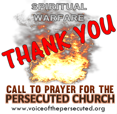 Thank You- Voice of the Persecuted Prayer call event