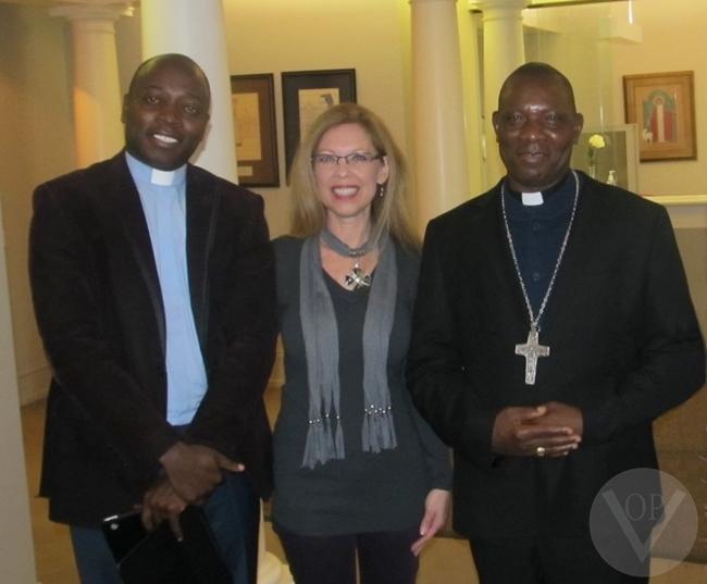 Fr.Gideon Obasogie, VOP Founder Lois Kanalos, Bishop Oliver Dashe Doeme