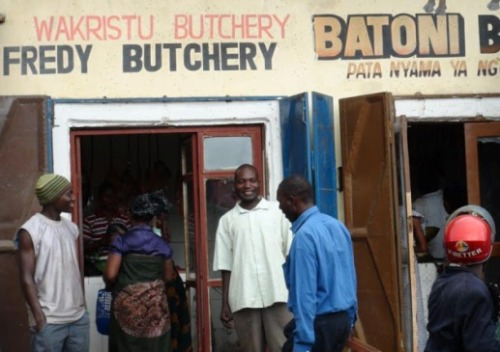A Christian butchers in Mbeya, Tanzania. 'Wakristu' means 'Christian'. World Watch Monitor