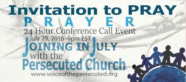 July2016 Prayer call Event