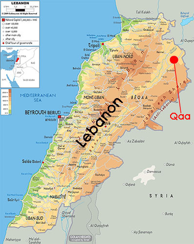 Lebanon-Qaa map