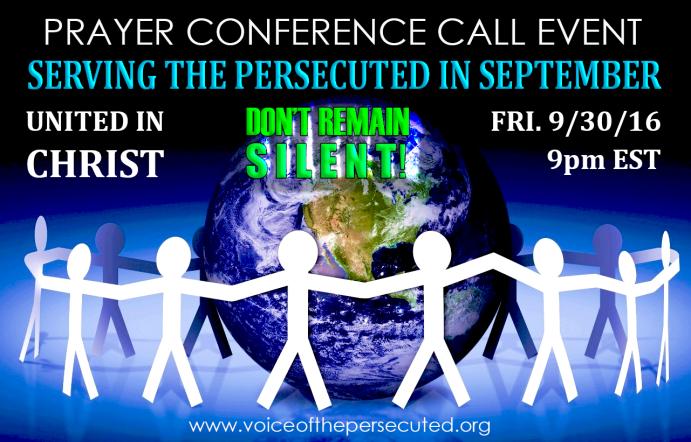 SEPTEMBER PRAYER CALL EVENT