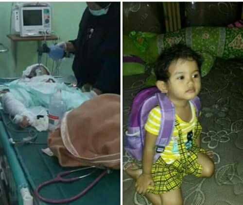 2 year old girl dies of injuries sustained during church attack.
