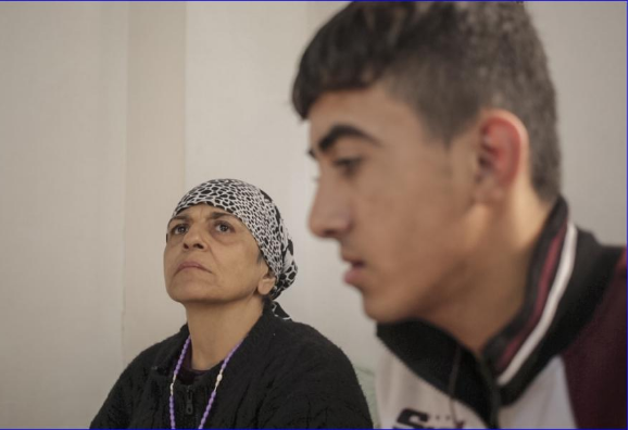 Jandar Nasi, a 54-year-old Christian Iraqi who fled ISIS-held Mosul with her son. ( Sam Tarling/PRI)