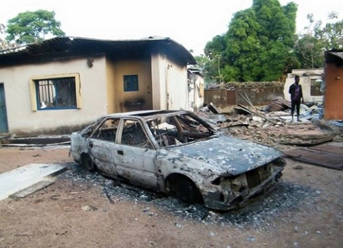 In the village of Goska, houses were destroyed, churches burnt and shops vandalised in a December attack. World Watch Monitor