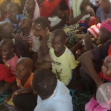 Christian children in Voice of the Persecuted supported IDP camp in Nigeria.