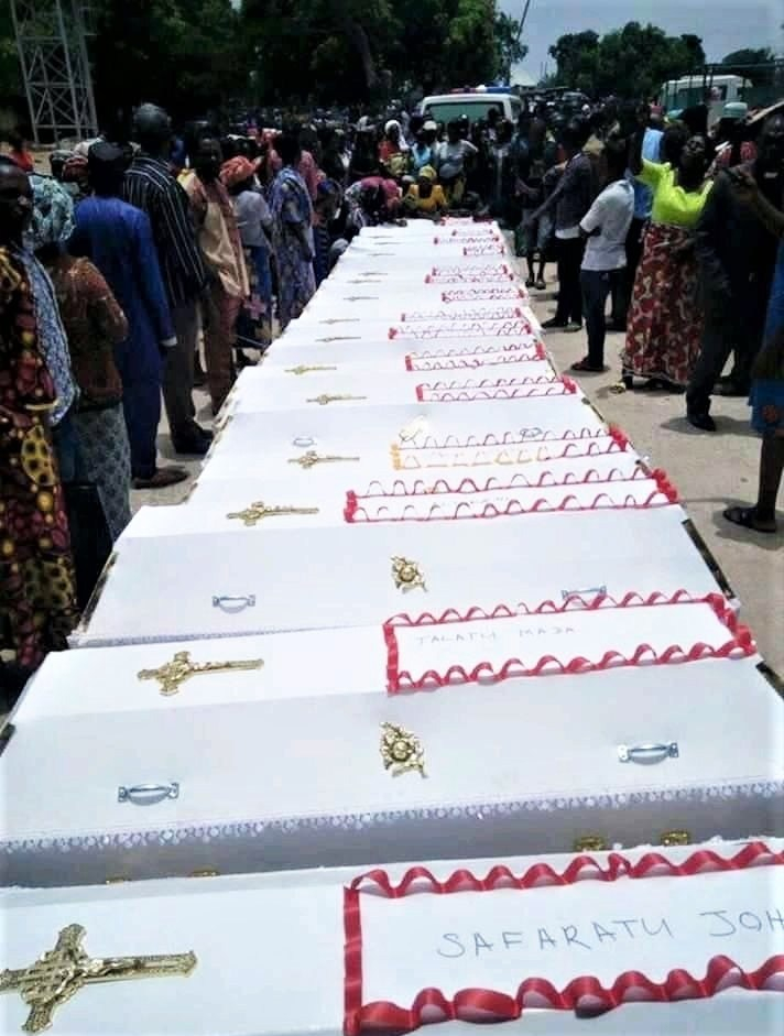 Coffins-at-the-funeral-of-Christians-slain-in-Konshu-Numa-village-Nasarawa-state-Nigeria-on-Sunday-April-14-2019.-Morning-Star-News